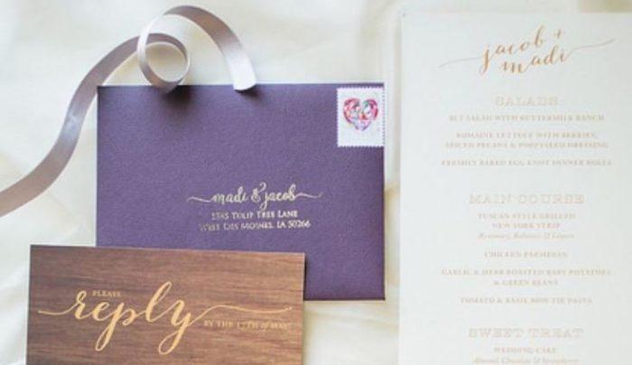 Wedding Guest List Wedding Invitation