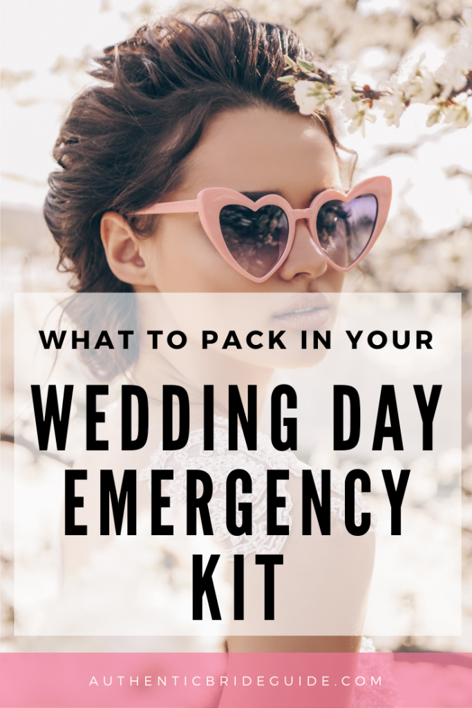 Wedding Day Bride Emergency Kit