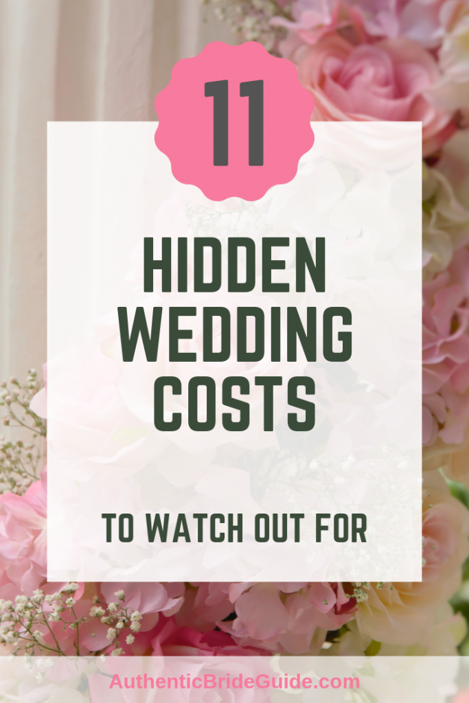 Hidden Wedding Costs To Add to your Wedding Budget