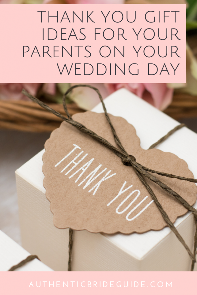 Wedding day thank you gift for parents