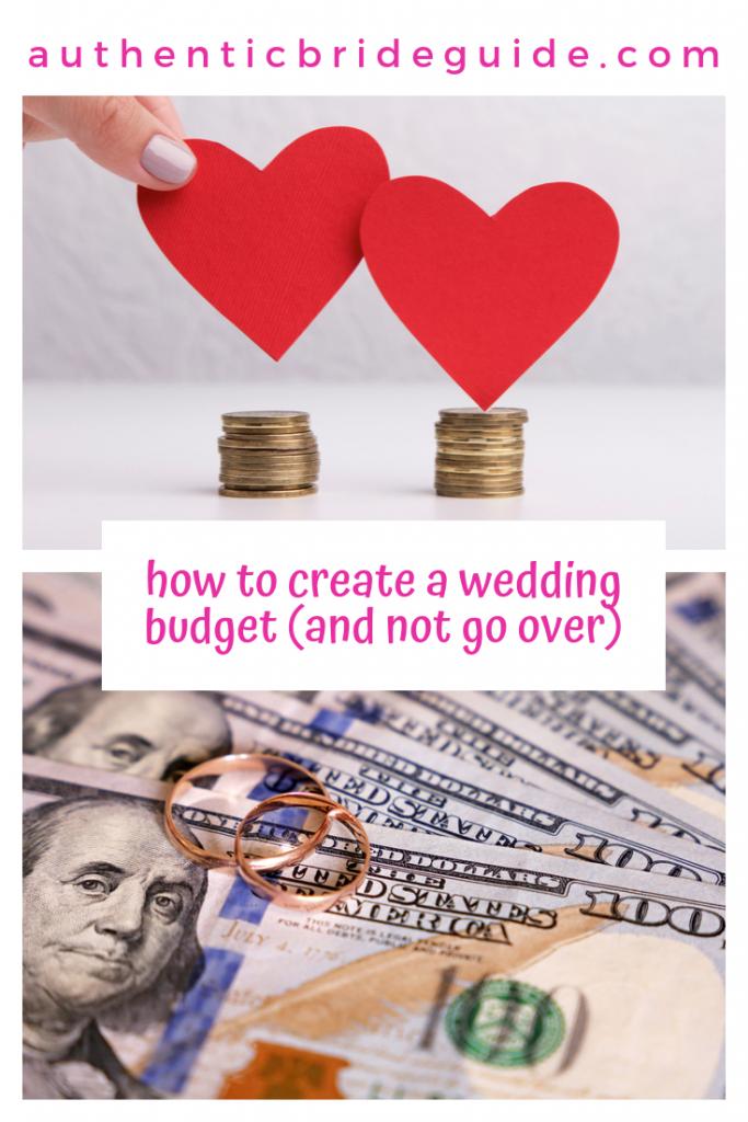 Create a wedding budget