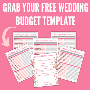 Grab your free wedding budget template