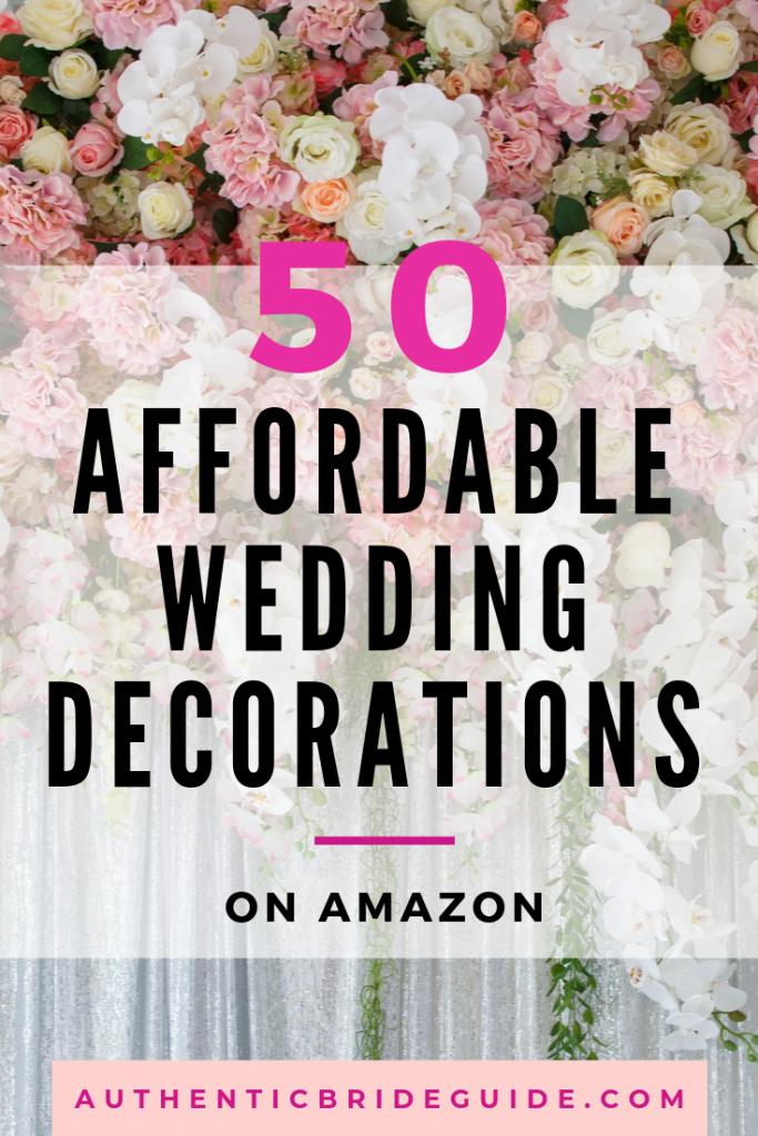 Affordable Wedding Decorations