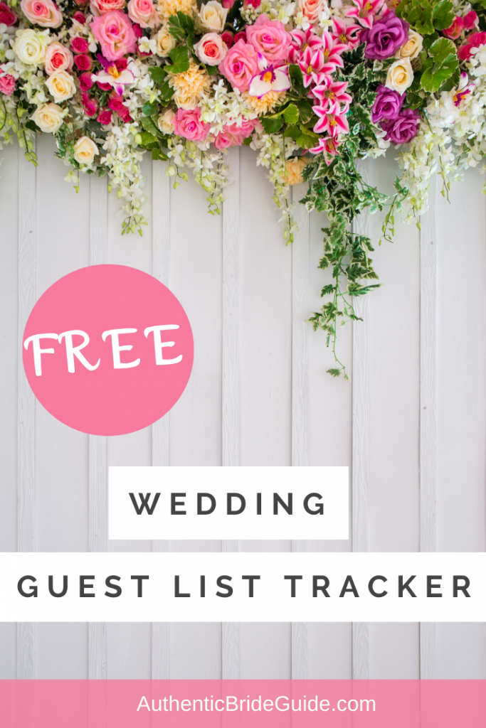 Free Wedding Guest List Tracker